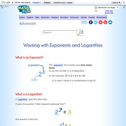 Working with Exponents and Logarithms