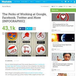 The Perks of Working at Google, Facebook, Twitter and More [INFOGRAPHIC]