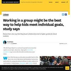 Working in a group might be the best way to help kids meet individual goals, study says