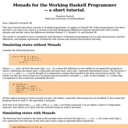 Monads for the Working Haskell Programmer