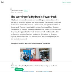 The Working of a Hydraulic Power Pack