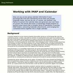 Working with IMAP and iCalendar