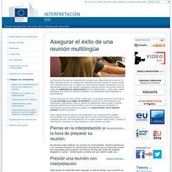 Consejos de la UE para trabajar con intérpretes