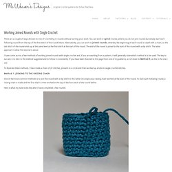 Working Joined Rounds with Single Crochet