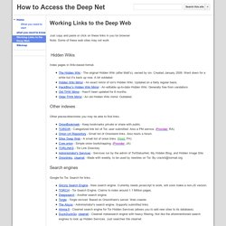 Working Links To The Deep Web