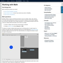 Working with Math