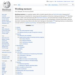 Working memory - Wikipedia