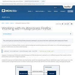 Working with multiprocess Firefox