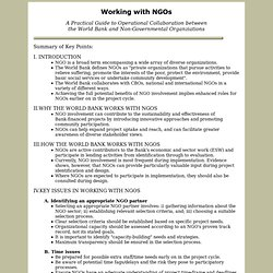 World Bank Working with NGOs