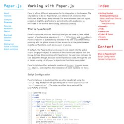 Working with Paper.js