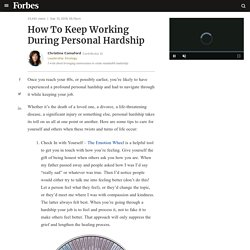 How To Keep Working During Personal Hardship