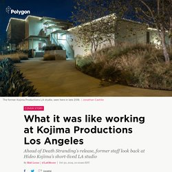 What it was like working at Kojima Productions Los Angeles