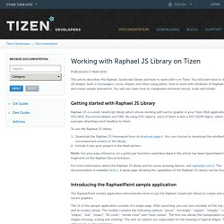 Working with Raphael JS Library on Tizen