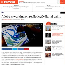 Adobe is working on realistic 3D digital paint