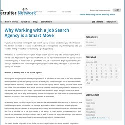 Why Working with a Job Search Agency is a Smart Move