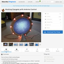 Working Stargate with Arduino Control by Carasibana