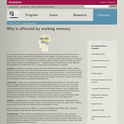 Who is affected by working memory