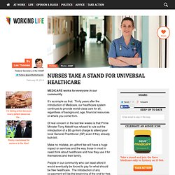 Nurses take a stand for universal healthcare