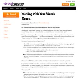 Working With Your Friends