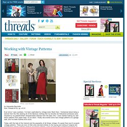 Working with Vintage Patterns