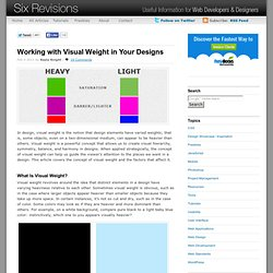 Working with Visual Weight in Your Designs