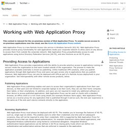 Working with Web Application Proxy