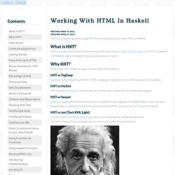 Working With HTML In Haskell - adit.io
