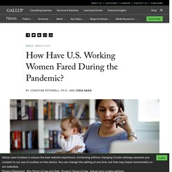 How Have U.S. Working Women Fared During the Pandemic?
