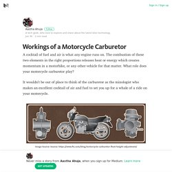 Workings of a Motorcycle Carburetor – Medium