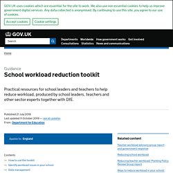 School workload reduction toolkit