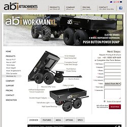 ABI Workman Tipper Trailer, Dump Trailer For Quad - ABI Attachments AU