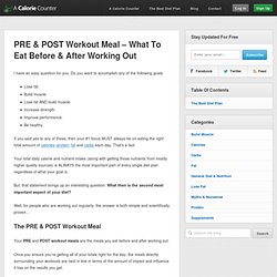 PRE & POST Workout Meal - What To Eat Before & After Working Out