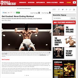 Workout & Muscle Building Exercises: Get Crushed: Never Ending Workout