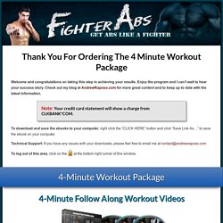 4 Minute Workout Package Download « FighterAbs.com
