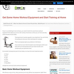 Best Home Workout Equipment to Build Muscle in Your Home