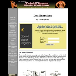 Leg workout routine. Thigh exercise. Leg exercise pictures