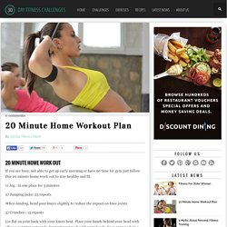 20 Minute Home Workout Plan