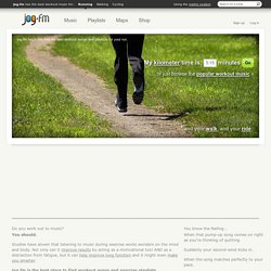 Running Music, BPM-Based Jogging ? jog.fm