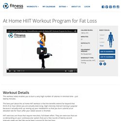 At Home HIIT Workout Program for Fat Loss