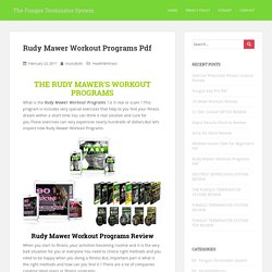 Rudy Mawer Workout Programs Pdf