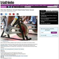 One-Hour Workout: Smooth Pedal Stroke Trainer Session