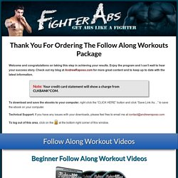 Follow Along Workouts Download Page MNW « FighterAbs.com