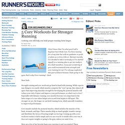 5 Core Workouts for Stronger Running
