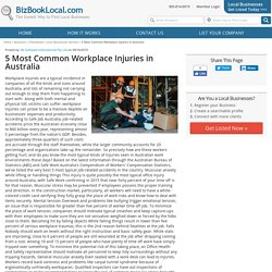 5 Most Common Workplace Injuries in Australia