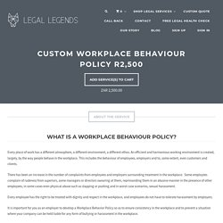 Workplace Behaviour Policy
