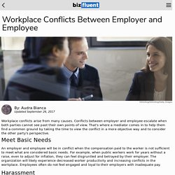 Workplace Conflicts Between Employer and Employee