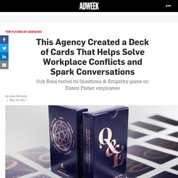 This Agency Created a Deck of Cards That Helps Solve Workplace Conflicts and Spark Conversations