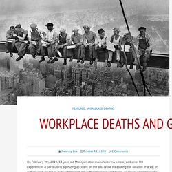 Workplace deaths and gender gaps – A Voice for Men