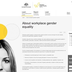 The Workplace Gender Equality Agency