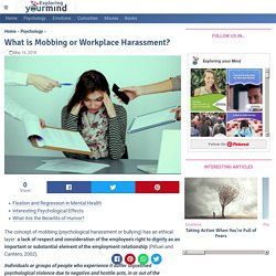 What is mobbing or workplace harassment? Exploring your mind
